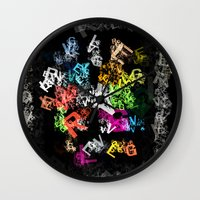 letters Wall Clocks featuring letters by Alexandr-Az