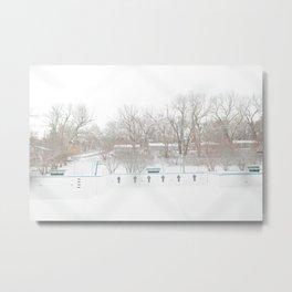 winterpool Metal Print