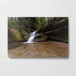 waterfall in Ohio Metal Print