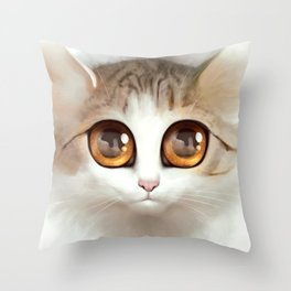 Kitten 2 Throw Pillow