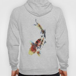 Watercolor design. Koi fish. Japanese style. Hoody