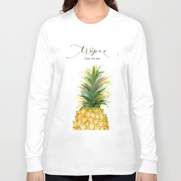 Tropic Like it's Hot Pineapple Long Sleeve T-shirt