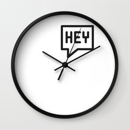 Hey, hello, bonjour! Wall Clock