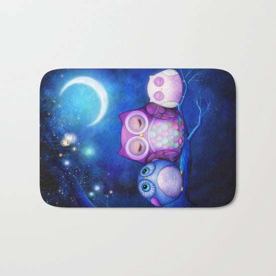 Night Owls & Fairy Lanterns Bath Mat
