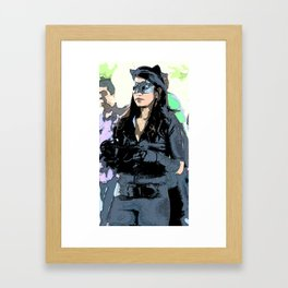 Catwoman on the Prowl Framed Art Print