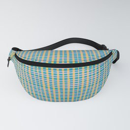 Plaid Lines in Blue Fanny Pack