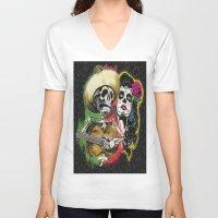 dia de los muertos V-neck T-shirts featuring Dia de Los Muertos by Kevin Rogerson