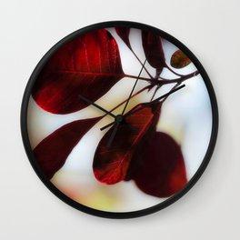 Smoke Bush Wall Clock