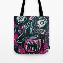 Pink Crazy Fella Tote Bag