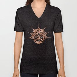 Copper Frog Ink Unisex V-Neck