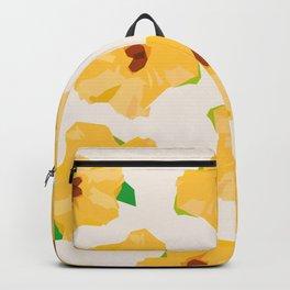 Sunflower Flower geometric Backpack