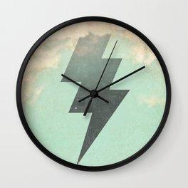 lightning strike -2 Wall Clock