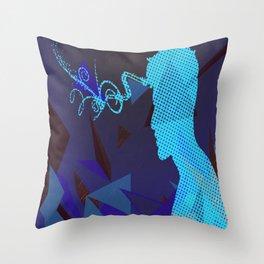 blue sorrow Throw Pillow