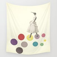 lady Wall Tapestries featuring Bird Lady by Cassia Beck