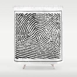 Fingerprint 2 Shower Curtain