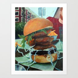 Bronx Burger at Earls in Yaletown Art Print