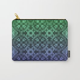 Pixel Patterns Blue Green Carry-All Pouch