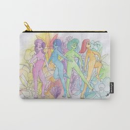 flowers and girls colored Carry-All Pouch