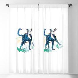 Little dog illustration Blackout Curtain
