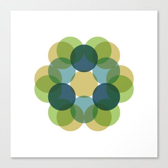 #363 Flourishing – Geometry Daily Canvas Print