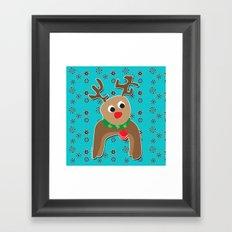 Santa's Reindeer Framed Art Print
