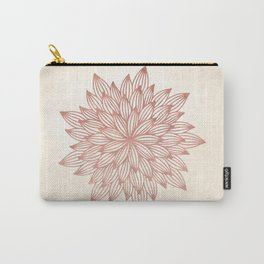 Mandala Flowery Rose Gold on Cream Carry-All Pouch