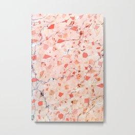 peachy marble (teenage room) Metal Print