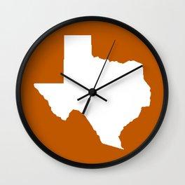 Texas longhorns college UT university sports football fan team alumni Wall Clock