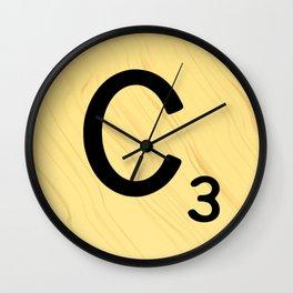 Scrabble C Decor, Scrabble Art, Large Scrabble Prints, Word Art, Accessories, Apparel, Home Decor Wall Clock