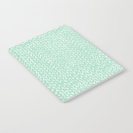Hand Knit Mint Notebook