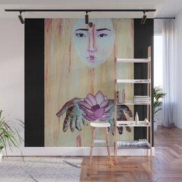 Lotus Hands Surreal Oil Painting Wall Mural