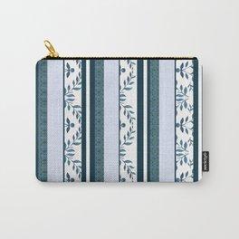 zakiaz navy & white french stripe Carry-All Pouch