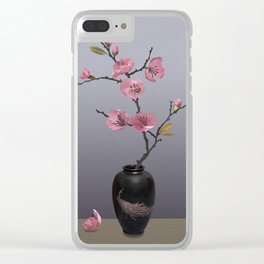 Flowering Pink Quince Clear iPhone Case