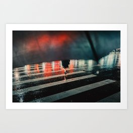 Running Away Art Print