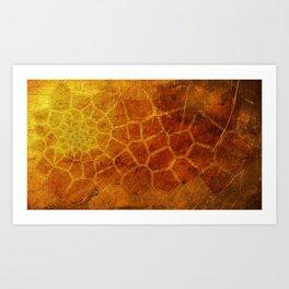 Golden Voronoi Art Print
