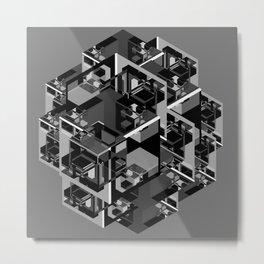 Cube Complex Metal Print