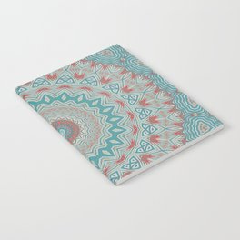 Tribal Medallion Teal Notebook