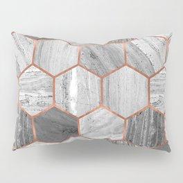 Marble Hexagons Pillow Sham