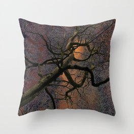 Crazy tree Throw Pillow
