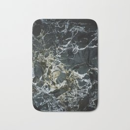 BLACK MARBLE ROCK WITH QUARTZ Bath Mat