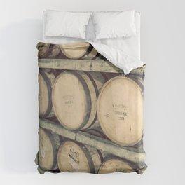 Kentucky Bourbon Barrels Color Photo Duvet Cover