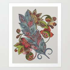 One little feather Art Print