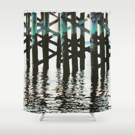 Reflection at the Pier Shower Curtain