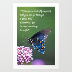 Beautiful Butterfly Quote Art Print
