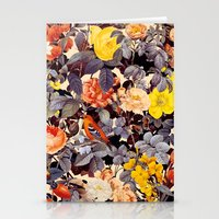 floral pattern Stationery Cards featuring Floral Pattern by Burcu Korkmazyurek