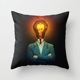 bulb head Throw Pillow