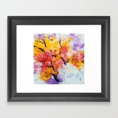 Abstraction on a tree Framed Art Print