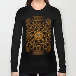 Fractal Art - Tiki Gold I Long Sleeve T-shirt