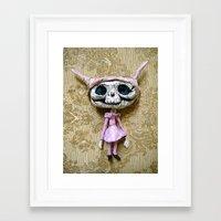 luna Framed Art Prints featuring Luna by meme