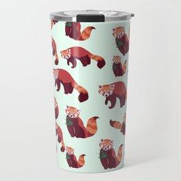 Red Panda Pattern Travel Mug